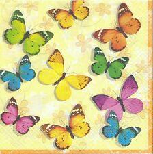 Lot de 4 Serviettes en papier Papillon pour Decoupage Collage Decopatch