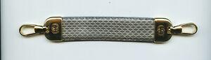 GUCCI Brass & Grey Snake Skin Key Fob Charm Guaranteed Genuine Factory Hardware
