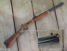 Non-Firing Replica 1873 WINCHESTER Engraved Brass Rifle Western Cowboy Prop Gun