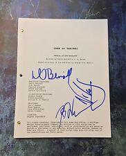 GFA x3 Creators & Nikolai * GAME OF THRONES * Signed TV Episode Script AD2 COA