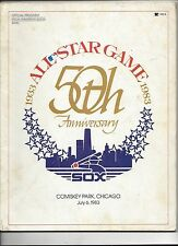 1983 Baseball All Star Game Program (See Scan For Condition)