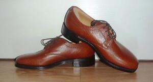 New + Vintage LOAKE Brown Buffalo Grain Leather - UK 6 US 7 Fit: G/7