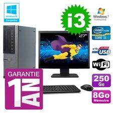 """PC Dell 790 DT Intel I3-2120 8gb Disco 250Gb Grabador Wifi W7 Pantalla 27"""""""
