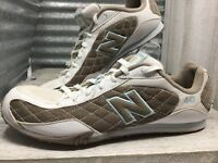 New Balance 442  Athletic Running White brown blue Quilted Lace Up Women Sz 10.5