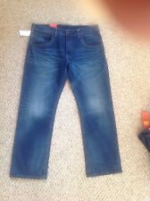 LEVI'S Men's 504 RED REGULAR STRAIGHT FIT Blue Jeans W/ Bandana 32 X 32 NWT $98!
