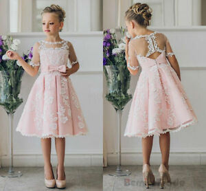 New Flower Girl Dresses Bridesmaid Wedding Communion Party Prom Princess Pageant