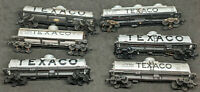Texaco TANK CARS. HO Scale MIXED LOT OF 6, VINTAGE. Life-like TYCO, MANTUA, RtR