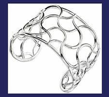 Bangle Cuff Solid Silver Ladies Sterling Silver Wide