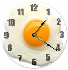 """10.5"""" SUNNY SIDE UP EGG CLOCK- Large 10.5"""" Wall Clock - Home Décor Clock - 3225"""
