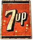 7-up Soda Logo Metal Decor Wall Art Store Cola Cave Sign