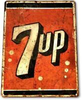 7-up Soda Logo Metal Decor Wall Art Store Cola Cave Sign