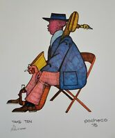 "Ferdie Pacheco Signed Print /""Sonia Delaunay/"""