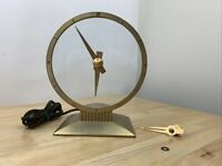 Vintage Jefferson Golden Hour Electric Mystery Clock WORKS! Extra Hand And Gears