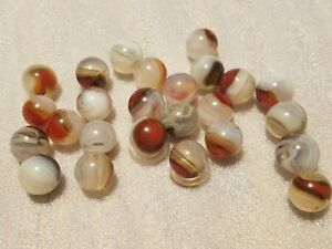 """Lot of 25 NM Vitro exotic conqueror .66"""" with Oxblood marbles"""