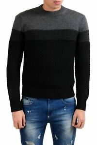 Prada Men's 100% Wool Heavy Knitted Crewneck Sweater US 2XS IT 44