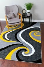 Rugs Area Rugs Carpets 8x10 Rug Floor Gray Modern Large Yellow Living Room Rugs