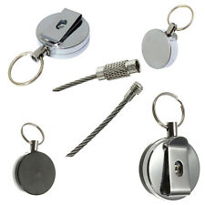Keyring Retractable Pull Clip Cord Chain Card Badge Holder Recoil Belt And Band