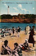 CPA Biarritz - Plage Miramar et le Phare (162713)