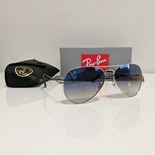 Ray-Ban Aviator 58mm Silver Frame Blue Gradient Lens Sunglasses RB3025 003/3F 58