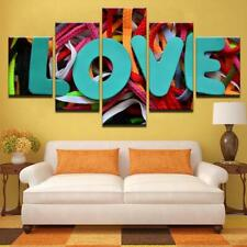 Love Laces Colorful Symbol 5 piece Hd Art Poster Wall Home Decor Canvas Print