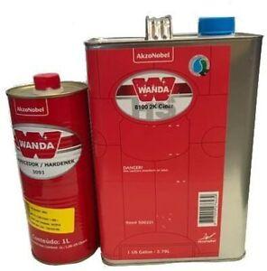 Wanda 8100 Polyurethane Clearcoat 1 Gallon with 1L Hardener.