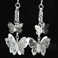925 Silver Plated Butterfly Dangle Earrings Women Fashion Jewelry***UK Seller***