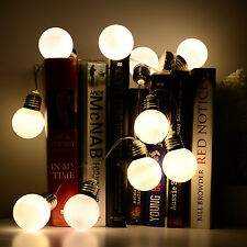 Warm White Battery Power Led Ball Bulb Fairy String Light Xmas Garden Home Decor