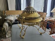 Mid Century Solid Brass Brazier