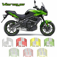 Motorcycle Wheel decals rim stripes tape stickers For KAWASAKI VERSYS ALL MODELS
