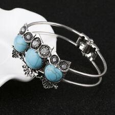 Tibetan Silver Turquoise Owl Spirit Animal Bracelet Bangle Jewellery Gift Bag