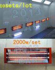 Spray/Baking booth Infrared Paint Curing Lamp Heating Light Heater 10 Sets* 2KW