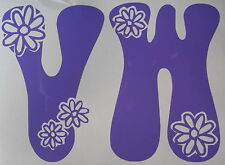 VW Hippy Flower Power LOGO AUTO, CAMPER VAN corpo pannello, Decalcomania, grafica,