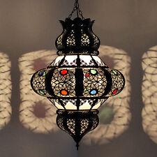 LANTERNA ORIENTALE MAROCCHINA lampada luce a sospensione kricha vetro latteo H