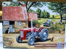 MASSEY FERGUSON 35 MF35 OLD FARM SCENE METAL WALL SIGN