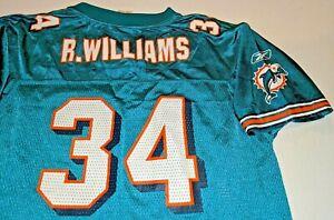 Miami Dolphins Ricky Williams Reebok NFL Football Jersey Boys Youth XL(18-20)