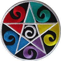 Pentagram Patch Iron Sew On Clothes Star Embroidered Badge Embroidery Applique