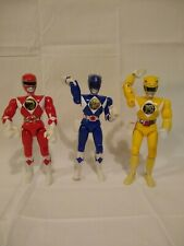1994 BANDAI POWER RANGERS ACTION RANGERS SET OF 3 RED YELLOW AND BLUE RANGERS
