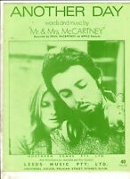 PAUL MCCARTNEY Another Day 1971 AUSSIE SHEET MUSIC The Beatles
