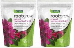 2X Rootgrow Ericoid Mycorrhizal Fungi Garden Plant Feed Fertiliser Empathy RHS