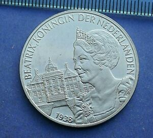 NETHERLANDS BEATRIX KONINGIN DER NEDERLANDEN 1938-1998. Medallion (459)