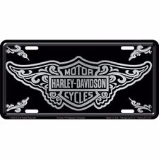 Official Harley Davidson Bar & Shield with Filigree Design License Plate