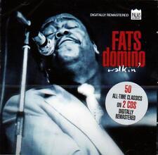 FATS DOMINO - WALKIN' - 50 ALL-TIME CLASSICS (NEW SEALED 2CD)
