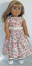 "Pink Print Sleeveless Dress Fits 18"" American Girl  Dolls"