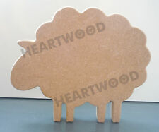 Sheep shape in MDF (147mm x 18mm thick)/Farm/Wooden blank craft shape