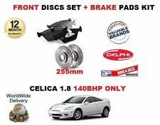 FOR TOYOTA CELICA 1.8i 140BHP 12/1999-8/2002 NEW FRONT BRAKE DISCS & PADS SET