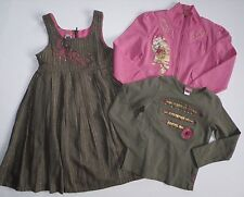 PAMPOLINA PINK GREEN LOT OF 3 DRESS JACKET SHIRT GIRLS SZ 5 - 6