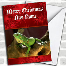 Lizard Personalized Christmas Card