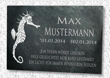 Gedenkplatte Grabstein Gedenktafel Grabtafel Schiefergravur Urnengrab Motiv S1