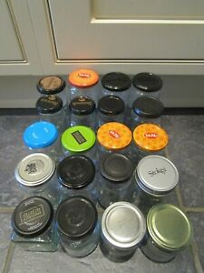 Glass Jars with lids - variety of sizes