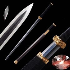 Battle Sword Refining Steel + Wrought Iron Forging Steel San Mai III Blade #1317